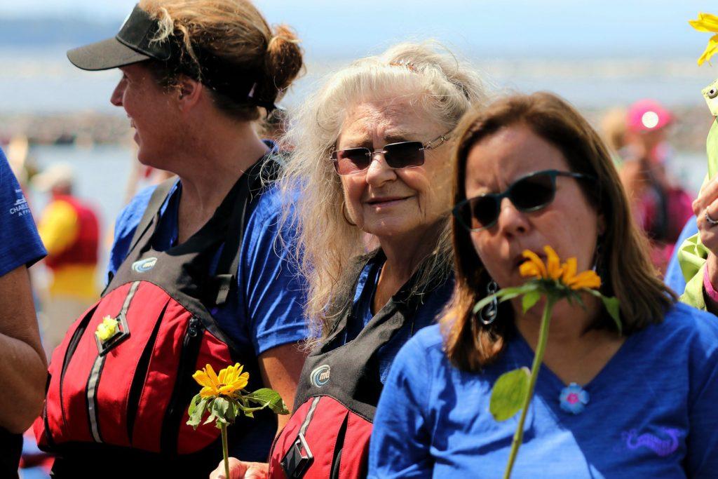 2017 Burlington VT flower ceremony - Natalie, Peggy, Luz