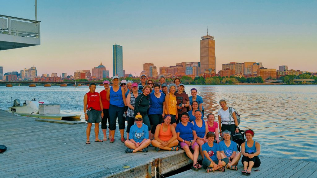 2017 Wellness Warriors sunset on the Charles River
